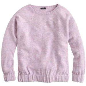 J. Crew Boiled Merino Wool Sweatshirt Purple X775